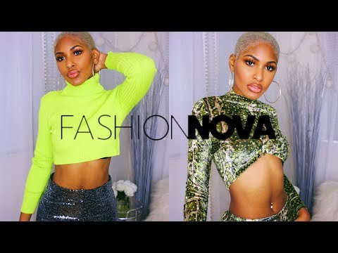 Fashion Nova Holiday Clothing Try On Haul *SUPER SPARKLY*