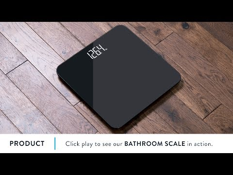 This Black, Glass Bathroom Scale is Striking | by Greater Goods