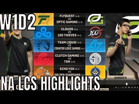 LCS Highlights ALL GAMES Week 1 Day 2 Spring 2019   League of Legends NALCS