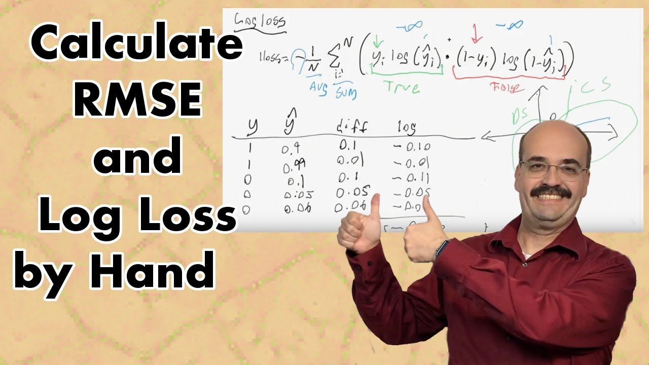 Neural Network RMSE and Log Loss Error Calculation from Scratch