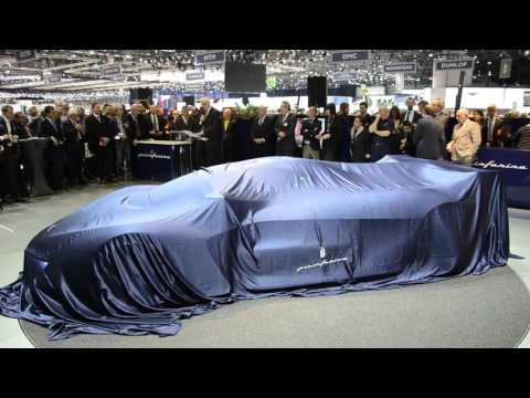 Pininfarina press conference March 1st 2016. Unveiling of H2 Speed concept car