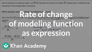 Average Rate Of Change With Function Notation