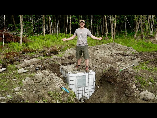 Here We GO!!! Building Our DIY Gravity Fed Water SYSTEM at Our OFF-GRID HOMESTEAD in the WILDERNESS