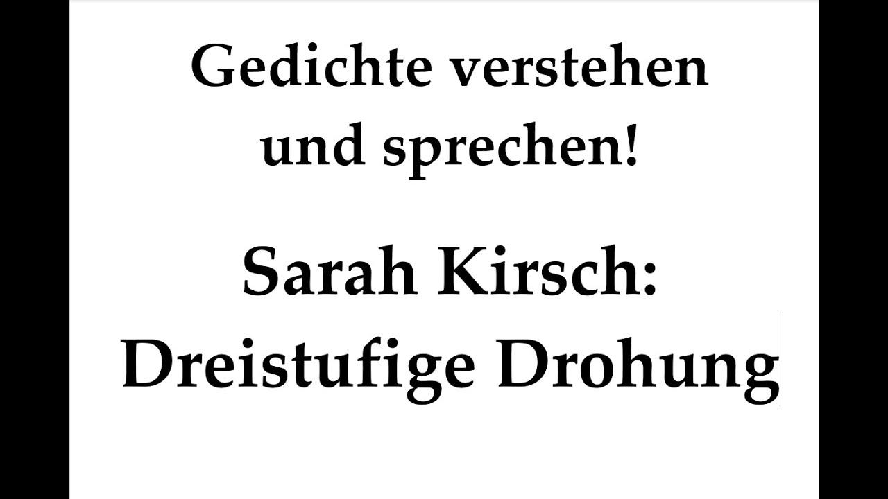 Kirsch Sarah Dreistufige Drohung Gedichte Karaoke 39