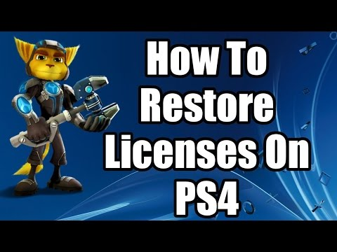 How To Restore Licenses On PS4 2016