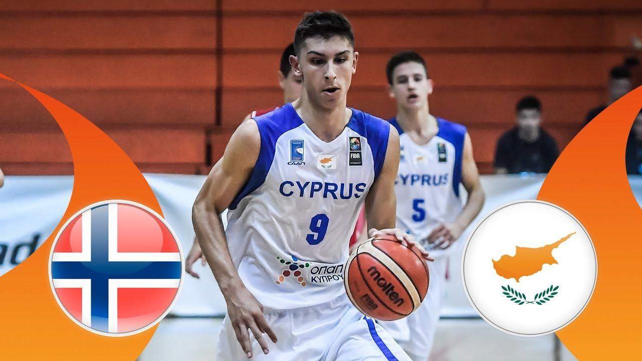new product 3efd7 c66ae Norway v Cyprus - Class. 21-22 - Full Game - FIBA U16 European Championship  Division B 2018