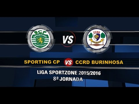 Futsal :: 08J :: Sporting - 4 x Burinhosa - 0 de 2015/2016