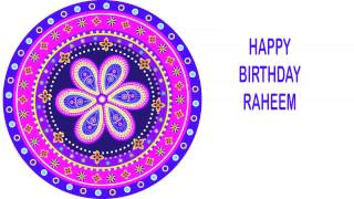 Raheem   Indian Designs - Happy Birthday