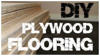 Plywood Flooring - An inexpensive alternative to hardwood floors (1)