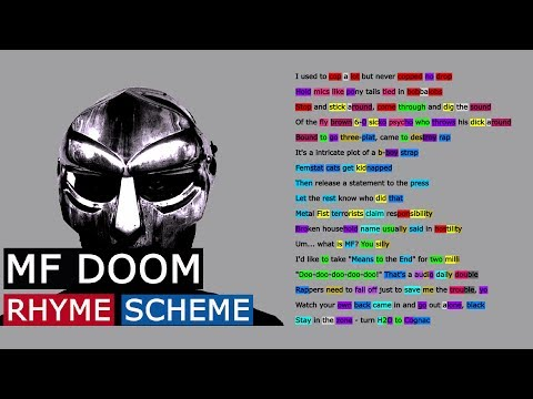 MF DOOM on Doomsday   Rhyme Scheme
