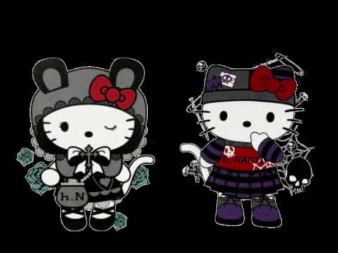 Group Of Hello Kitty Punk Wallpaper