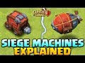 Gambar cover NEW SIEGE MACHINES EXPLAINED - Clash of Clans Update - How to use Siege Machine - CoC Town Hall 12!