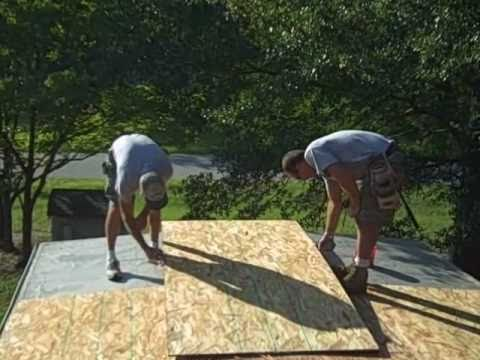 Mobile Home Rubber Roofing On A Single Wide Trailer Youtube