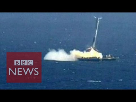 SpaceX rocket crashes into barge - BBC News