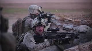 US Marines in Long Firefight