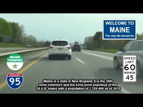 I-95 Southbound, Portland to York, Maine