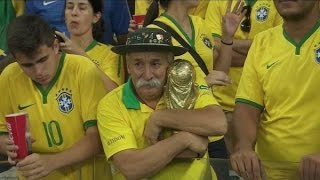 Moment of crying in football