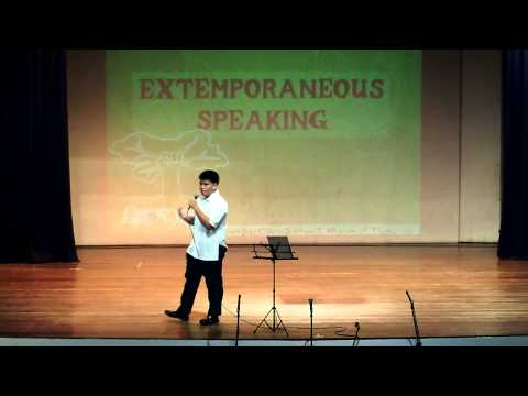 Elijah Extemporaneous Speech @ Ateneo.AVI