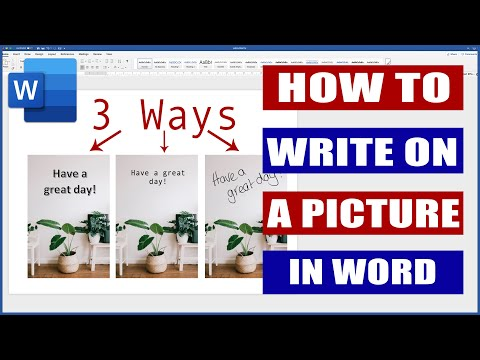 How to Write on an Image in Word | Microsoft Word Tutorial