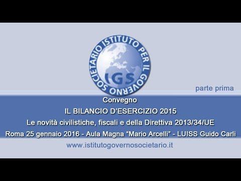 Il Bilancio d'Esercizio 2015 - Prima Parte