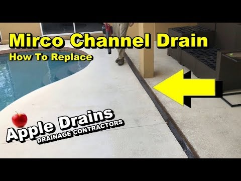 Mirco Channel Drain, Pool Deck Drain, DIY - YouTube