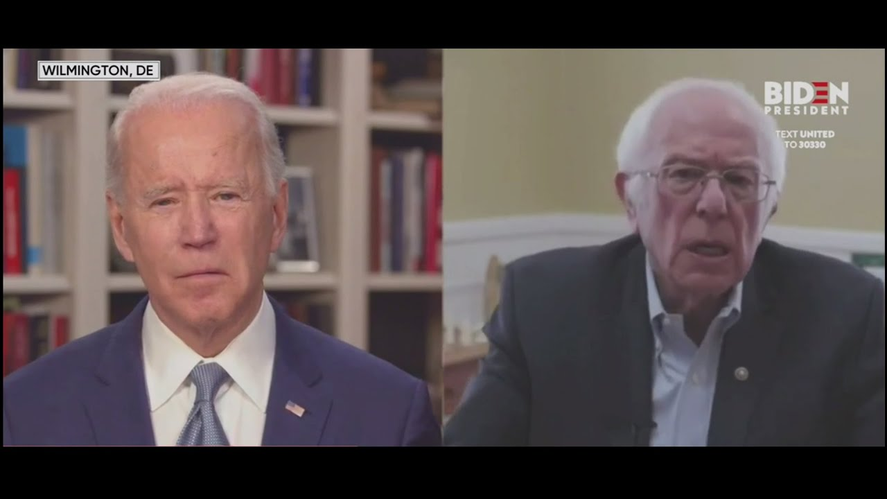 Sanders Endorses Biden for President in 2020 Race