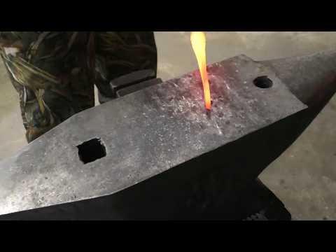 Куем нож из советского старого сверла. Сталь р18
