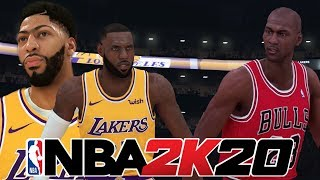 Can 2K20's LA Lakers beat the '96-'97 Chicago Bulls?! - NBA 2K20 Gameplay Concept