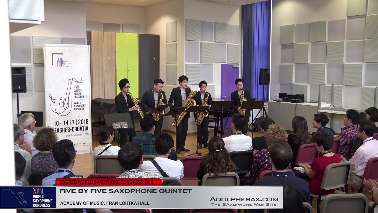 1 Pag 129   Five by Five Saxophone Quintet   XVIII World Sax Congress 2018 #adolphesax