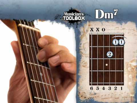 How To Play The D Minor 7 Chord On Guitar Dm7 Youtube