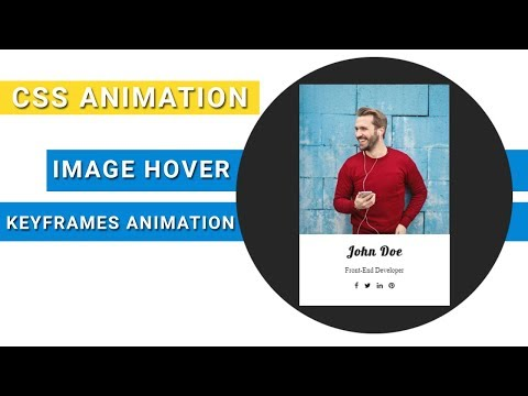Image hover effect with text animation | css keyframes animations