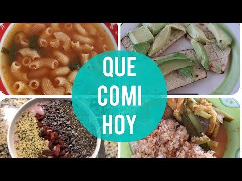 QUE COMI HOY (8 AL 12 ENERO 2018)  🍚🍛🍽 RECETAS ARROZ, ALBÓNDIGAS, NUTRISMOOTHIE Y SOPA DE PASTA!!