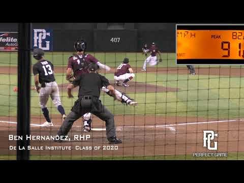 Ben Hernandez Prospect Video, RHP, De La Salle Institute Class of 2020