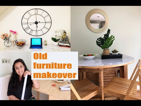 Aaj karte hain purane furniture ka makeover || DIY dining table & sideboard makeover