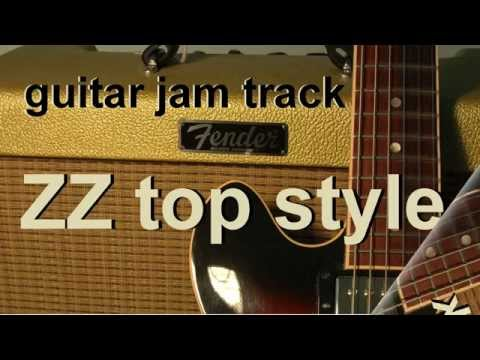 blues rock backing track - zz top style