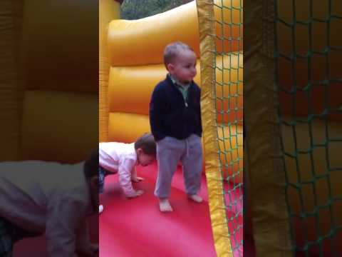 Kid is Too Cool For Bounce House