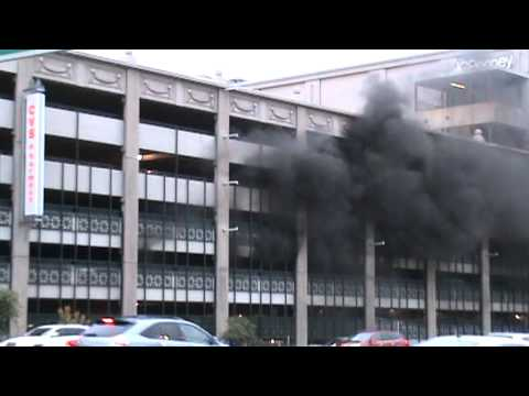 Garage Parking Stop >> Multiple cars on fire in Providence Place Mall - YouTube