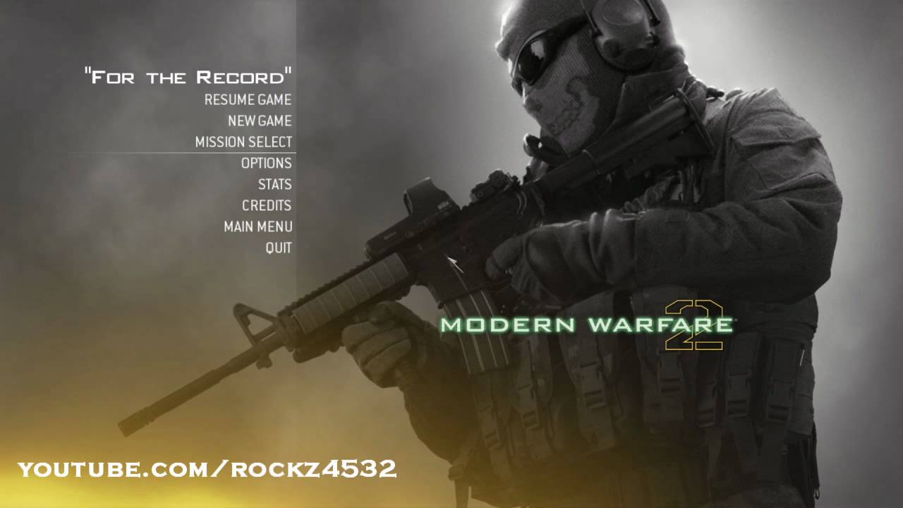 Mw2 Ghost Wallpaper Hd Mw2 Multiplayer Menu Soundtrack Youtube