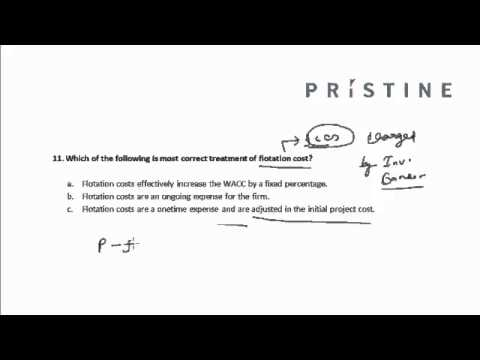 CFA Tutorial: Corporate Finance (Flotation Cost)