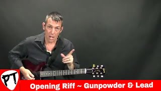 How to play Gunpowder & Lead by Miranda Lambert guitar lesson