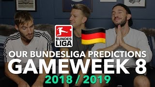 Bundesliga Tips - Gameweek 8 - 2018/2019