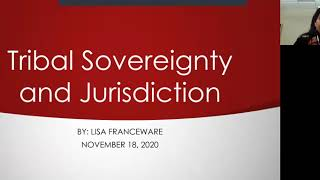 Tribal Sovereignty and Jurisdiction with Lisa Franceware