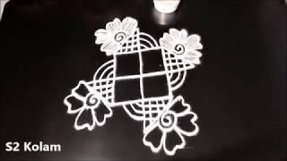 Creative muggulu designs with dots || simple padi kolam || easy rangoli designs || latest rangoli