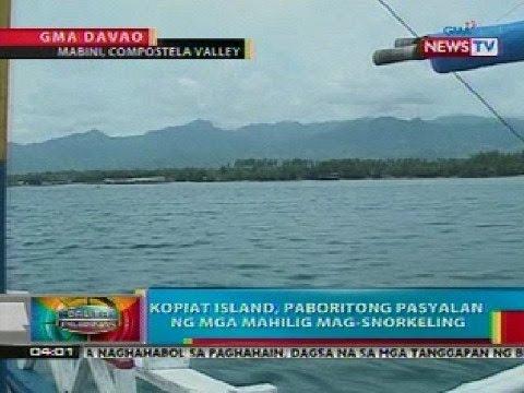 BP: Kopiat Island sa Compostela Valley, paboritong pasyalan ng mga mahilig mag-snorkeling