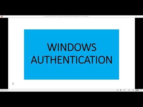What is windows authentication - YouTube