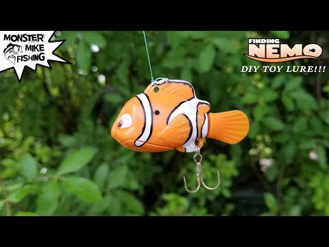 Finding Nemo Fishing Lure DIY Can We Catch A Fish? | Monster Mike