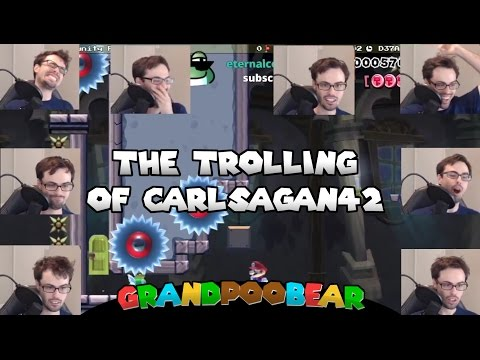 Poo Vs CarlSagan42 Challenge Part 3: Hot Carl Community Feedback MAXIMUM TROLLING! Mario Maker