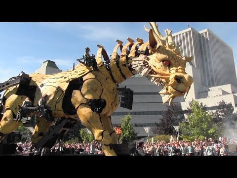 Towering dragon roams Ottawa streets