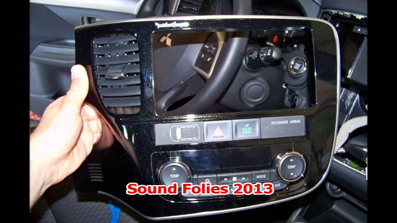 montaggio navigatore doppio din Alpine ICS-X8 su Mitsubishi Outlander 2013  - Sound Folies