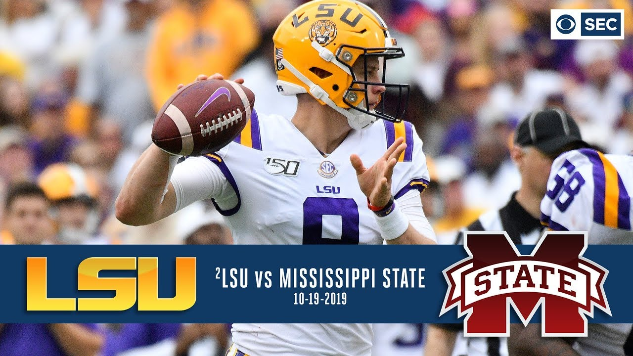 Lsu Vs Miss State Recap Joe Burrow Sets Lsu Passing Record As No 2 Tigers Cruise Cbs Sports Youtube